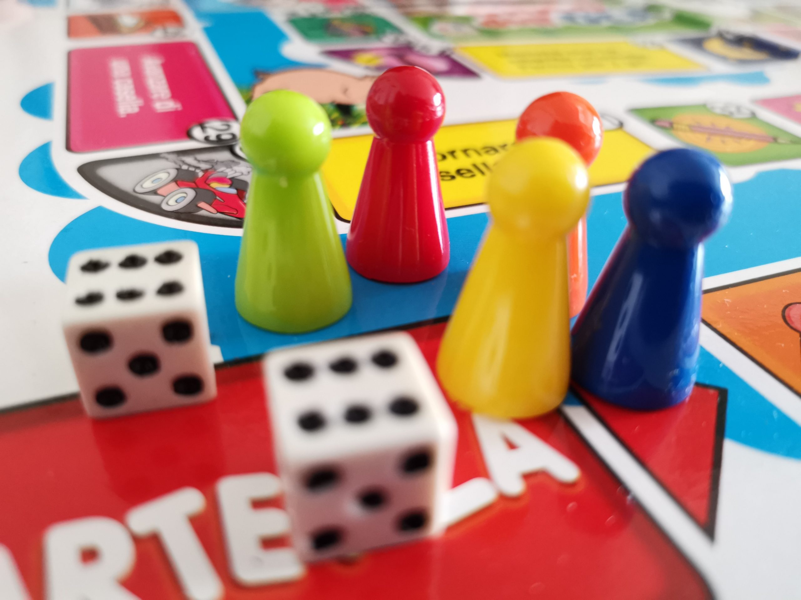 Board game with dices.
